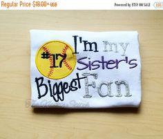 On Sale Softball Shirt, Softball Sibling Shirt, Softball Sister, Softball brother, Softball fan shirt, Softball game, Softball baby, Softbal by TheNattieStitch on Etsy https://www.etsy.com/listing/287920693/on-sale-softball-shirt-softball-sibling