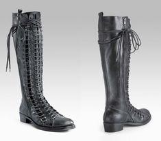 triple lace-up boots