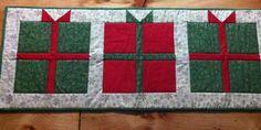 Present tablerunner  idea from present quilt tutorial at Missouri Star Quilt Company.
