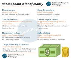 Forum | ________ Learn English | Fluent LandIdioms about a lot of Money | Fluent Land