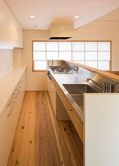 キッチン・バックカウンター(高台寺の家)- キッチン事例