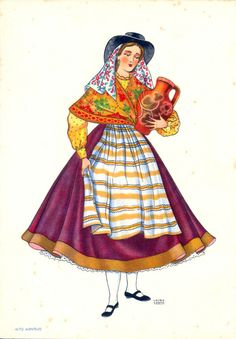 Portuguese traditional costumes of Alto Alentejo Folk Costume, Costume Dress, Folklore, History Of Portugal, Portuguese Culture, Visit Portugal, Retro Futurism, Mi Long, Fashion History