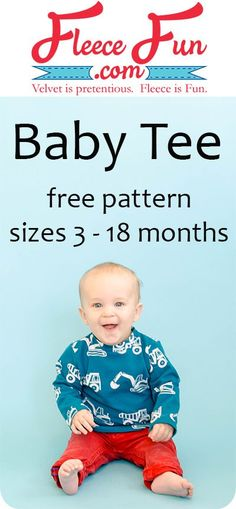 I can learn how to to make a baby t shirt with this easy to follow tutorial and free sewing pattern! I love this DIY idea, It's a perfect wardrobe staple for a baby.