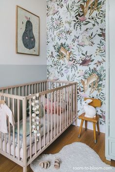 Ideas baby bedroom modern woodland nursery for 2019 Baby Bedroom, Baby Room Decor, Kids Bedroom, Room Kids, Bedroom Small, Bedroom Ideas, Kids Rooms, Trendy Bedroom, Girl Nursery Decor