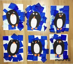Projects like this where every single one looks fun and unique are my favourite! These quirky little penguins are no exception! We love them! You may need: Assorted blue tissue paper (cut into squa…