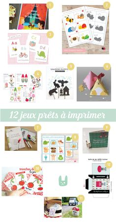 12 jeux prêts à imprimer Craft Activities For Kids, Classroom Activities, Diy Crafts For Kids, Learning Activities, Games For Kids, Vocabulary Games, Diy Games, French Lessons, Kids And Parenting