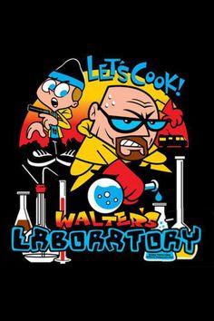 Walter's Lab Parody Tshirt by Offworld Designs. Funny t-shirt. Parody of Breaking Bad, Walter White, Dexter's Laboratory. Serie Breaking Bad, Bad Fan Art, Dexter Laboratory, Arte Hip Hop, Bad Memes, Drug Memes, Fanart, Walter White, Dibujos Cute