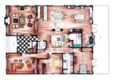 INTERIOR FLOOR PLANS // found by Romy  ~ Great pin! For Oahu architectural design visit http://ownerbuiltdesign.com