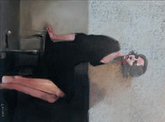 """""""Thoughtful Gaze"""" by Michael Carson    Oil on Panel"""