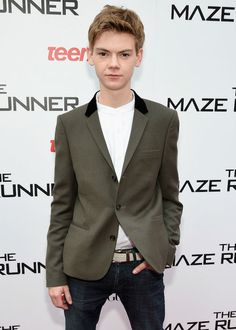 """Thomas Brodie-Sangster during the screening of """"The Maze Runner"""" in 2014..."""