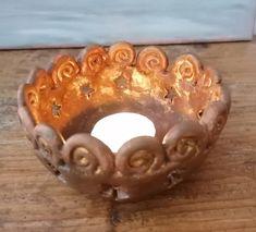 Windlicht Keramik Räucherschale Kerzenständer Adventslicht Kerzenhalter mit Sternen Geschenk