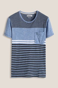 Esprit / Cotton blend jersey T-shirt with stripes