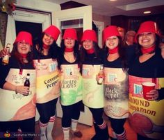 ASSORTED SPICES: You could also call yourself the ~Spice Girls~ with this costume, making it a double win. Click through for more genius Halloween ideas.