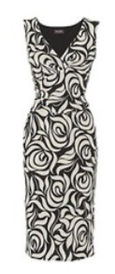 Brand New Phase Eight Samantha wiggle dress in black and white Size 10 - Carobethany - 1