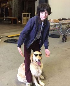 finn wolfhard, stranger things, and dog resmi Stranger Things Actors, Stranger Things Aesthetic, Stranger Things Funny, Stranger Things Netflix, Mike From Stranger Things, Jack Finn, Millie Bobby Brown, Es Pennywise, It Movie 2017 Cast