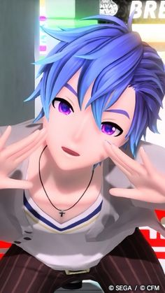 When you friend gets all up in your face Vocaloid Kaito, Kaito Shion, Anime Manga, Anime Guys, Blue Hair Anime Boy, J Pop Bands, Kaai Yuki, Mikuo, Wolf Tattoos
