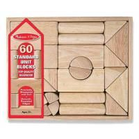 Buy Melissa and Doug - Standard Unit Blocks Set at Mighty Ape NZ. Sixty natural-finish, smooth-sanded hardwood wooden building blocks are packaged in a handsome wooden crate for easy storage. Ideal for building, bal.