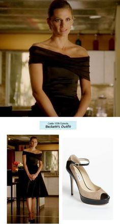 "Castle - ""The Lives of Others"" (Ep. 519 - 100th Episode) - love this dress (the heels not so much)"