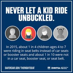 Make sure your kids are buckled up and in #therightseat. #CPSweek