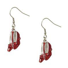 Ruby Slippers Dangle Earrings