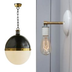 Thomas O'Brien Hicks Pendant and Etsy seller Ind Lights sconce | Remodelista