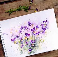 Beauty Flowers in Watercolour Paintings by Russian Artist Elena  Find her at instagram : https://www.instagram.com/ihappygirl/
