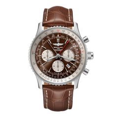 Worldwide Watches Magazine Breitling Navitimer, Breitling Watches, 3 O Clock, Red Gold, Chronograph, Picture Frames, Bronze, Stainless Steel, Leather