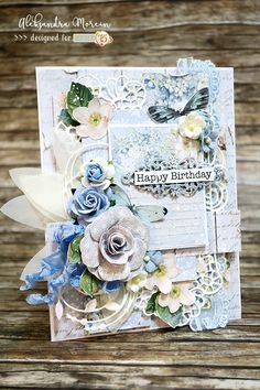 Hello and happy Friday! My post will be very quick as I only want to share a birthday card, created with the 'Studio 75' paper fro...