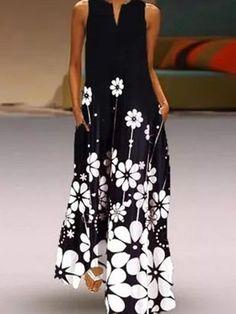 Buy Dresses, Online Shop, Women's Fashion Dresses for Sale - Floryday Floral Sundress, Floral Tunic, Floral Dresses, Sleeveless Dresses, Maxi Dresses, Shift Dresses, Sleeve Dresses, Vintage Dresses, Casual Dresses