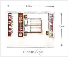 blog de decoração - Arquitrecos: Quarto + closet + escritório em 20 m2?? É possível!!!