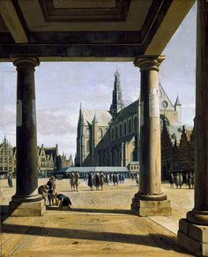 Berckheyde : The Groote Kerk at Haarlem (Fitzwilliam Museum - University of Cambridge (United Kingdom - Cambridge)) ヘリット・ベルクヘイデ Cambridge United Kingdom, Dutch Golden Age, City Painting, Art Uk, Built Environment, Kirchen, Your Paintings, Fine Art, History