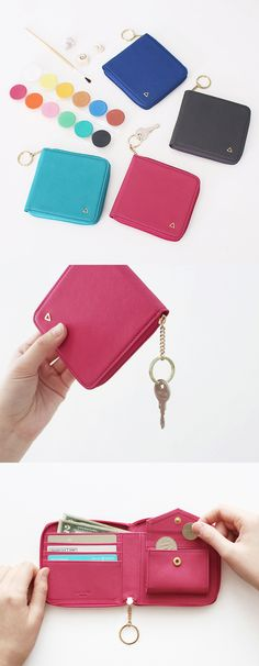 Prism Zipper Wallet