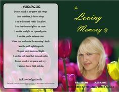 Step Fold Funeral Program Template  Graduated Funeral Program