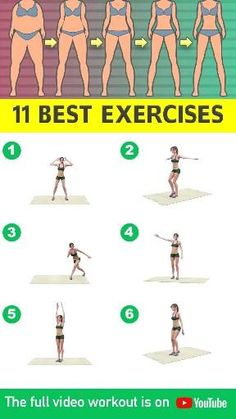 11 Best Standing Exercises (No Jumping) To Lose Weight At Home - Burn fat at home with no-jumping exercises that are included in today's workout video! Fitness Workouts, Gym Workout Videos, Gym Workout For Beginners, Easy Workouts, At Home Workouts, Fitness Tips, Fitness Motivation, Morning Ab Workouts, Monday Motivation