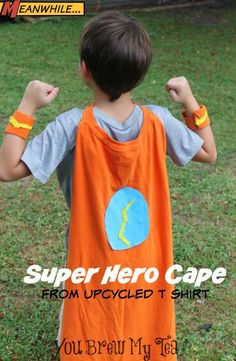 Upcycled T-Shirt Super Hero Cape!  Great gift item or fun costume idea!