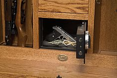 Fingerprint Safe And Hidden Compartments Behind Locking Doors And A .