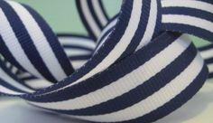 navy & white stripe ribbon