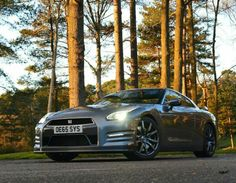 The #Nissan GT-R looks stunning in a forest!