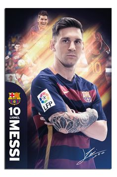 Barcelona- Messi Poster 24 x Sports Poster Lionel Messi Size: x Ships rolled in sturdy cardboard tube Fc Barcelona, Barcelona Sports, Lionel Messi Barcelona, Leonel Messi, Messi 2016, Messi And Neymar, Messi Team, Messi Poster, Soccer Poster