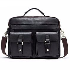 4dc2b9ec89 Leather Men Bag Business Briefcase Messenger Handbags