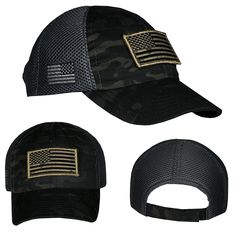 Nine Line Apparel Mesh Back Hat with Subdued US Flag patch