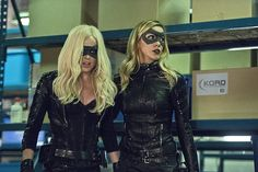 Caity Lotz as 'Sara Lance/Black Canary I/White Canary' and Katie Cassidy as 'Laurel Lance/Black Canary II' Ray Palmer, Arrow Black Canary, White Canary, Arrow Tv Series, Cw Series, Arrow Comic, Tommy Merlyn, Black Siren, Dinah Laurel Lance