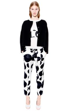 Abstract Dot Drawstring Trousers by 10 Crosby Derek Lam for Preorder on Moda Operandi