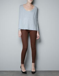 CASHMERE SWEATER WITH SIDE OPENING - Knitwear - Woman - ZARA United States