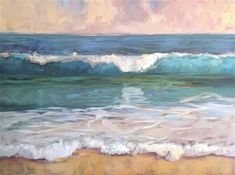 """Simple Wave"" - Original Fine Art for Sale - © Deborah Newman"