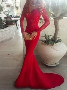 Red prom dresses,STrumpet/Mermaid Off-the-shoulder Prom Dresses,Evening Dresses,Floor-length $149.99