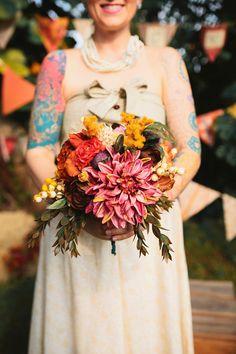 fall wedding bouquet // photo by Darling Juliet http://ruffledblog.com/florida-autumn-wedding #bouquet #weddingflowers