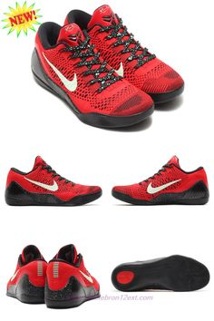 newest collection 11896 2a26c 639045-600 Nike Kobe 9 Elite Low University Red Black For Sale