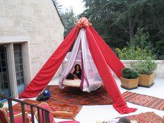 Sweet dreams in Floating Bed on terrace garden deck.