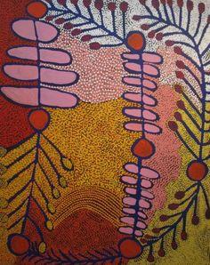 Ruby Williamson - Ultukunpa - Honey Grevillea x cm Aboriginal Painting, Aboriginal Artists, Dot Painting, Indigenous Australian Art, Indigenous Art, Australian Aboriginals, Aboriginal Culture, Atelier D Art, Art Brut